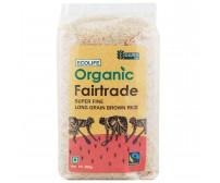 Ecolife Organic Fairtrade Super Fine Long Grain Brown Rice, 500g